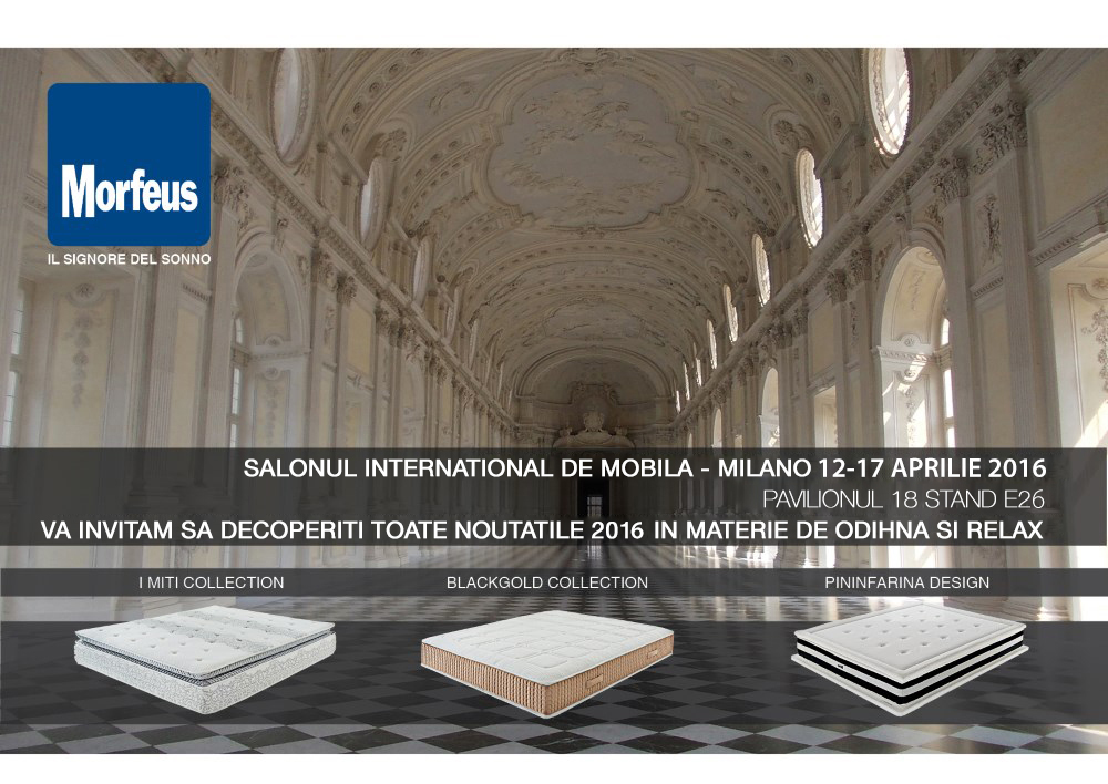 Invitatie Morfeus Salonul International de Mobila Milano